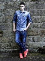jeansowy zestaw